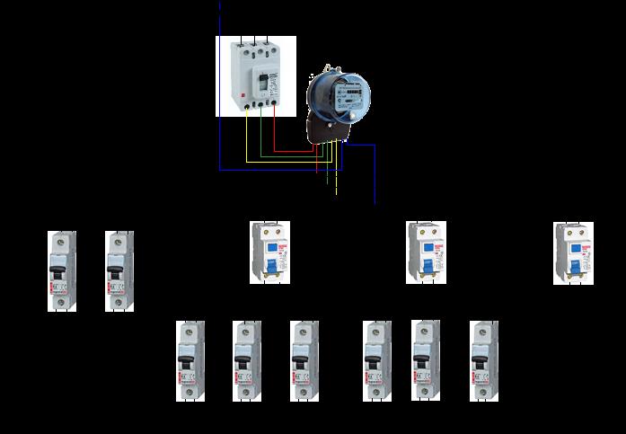 Эл. схема 3-х фазного частного дома